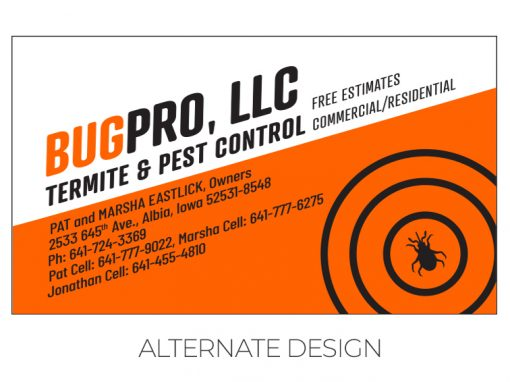BugPro Alternate Business Card